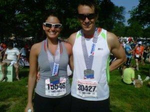 Bryan (my husband) & I after finishing.