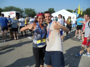 Josh & I at the finish.